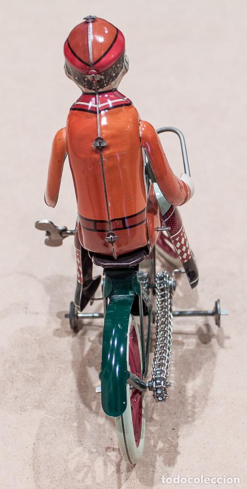 Juguetes antiguos de hojalata: BICICLETA ROLLI 230 DBS (DÜSELDORFER BLECH-SPIELWAREN). MADE IN GERMANY. CON CAJA. - Foto 4 - 136736826