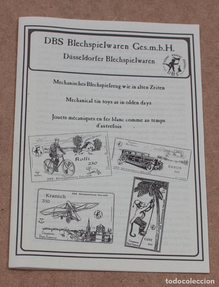 Juguetes antiguos de hojalata: BICICLETA ROLLI 230 DBS (DÜSELDORFER BLECH-SPIELWAREN). MADE IN GERMANY. CON CAJA. - Foto 6 - 136736826