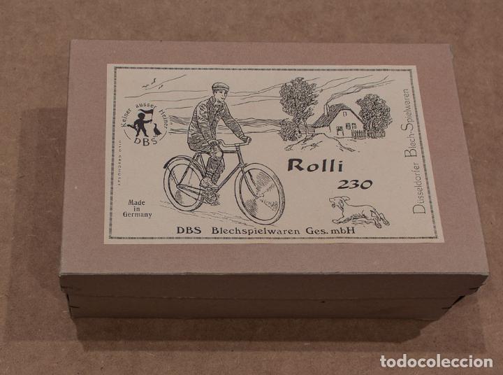 Juguetes antiguos de hojalata: BICICLETA ROLLI 230 DBS (DÜSELDORFER BLECH-SPIELWAREN). MADE IN GERMANY. CON CAJA. - Foto 8 - 136736826