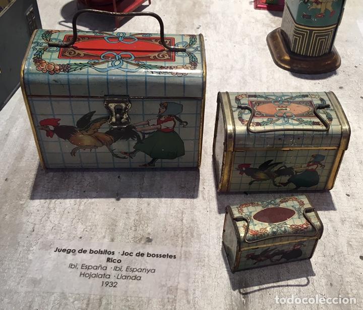 Juguetes antiguos de hojalata: Cabas ( cesta) de hojalata Rico ( es el mediano del juego). No paya no Jyesa - Foto 5 - 136189690