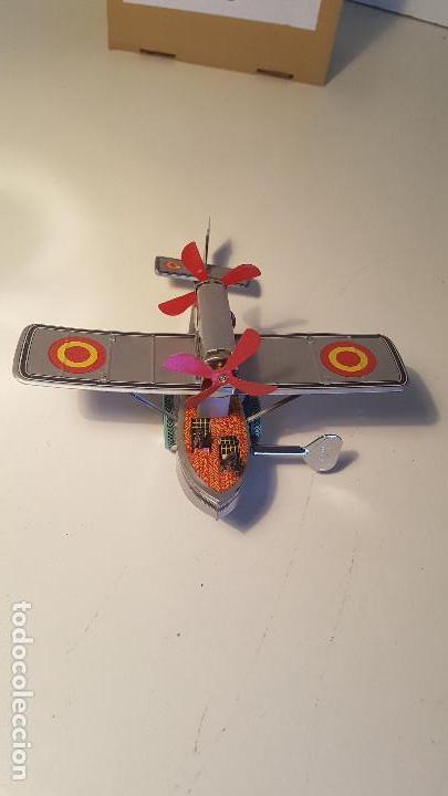 Juguetes antiguos de hojalata: PAYA Hidroavion Plus Ultra 1927 , completo con caja y llave, funcionando ! - Foto 4 - 174171593