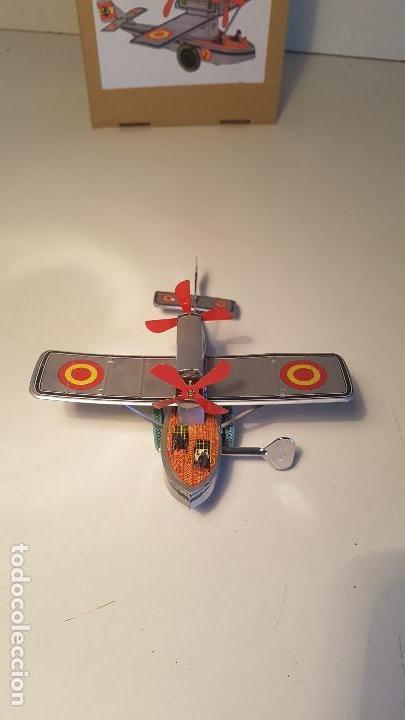 Juguetes antiguos de hojalata: PAYA Hidroavion Plus Ultra 1927 , completo con caja y llave, funcionando ! - Foto 6 - 174171593