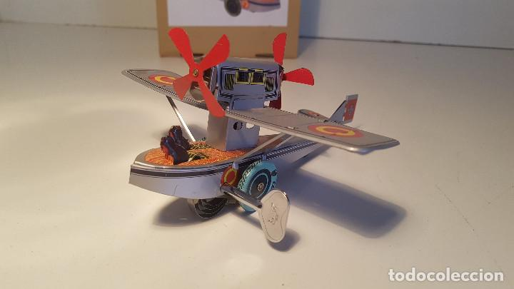 Juguetes antiguos de hojalata: PAYA Hidroavion Plus Ultra 1927 , completo con caja y llave, funcionando ! - Foto 8 - 174171593
