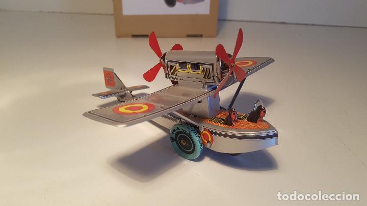 Juguetes antiguos de hojalata: PAYA Hidroavion Plus Ultra 1927 , completo con caja y llave, funcionando ! - Foto 9 - 174171593