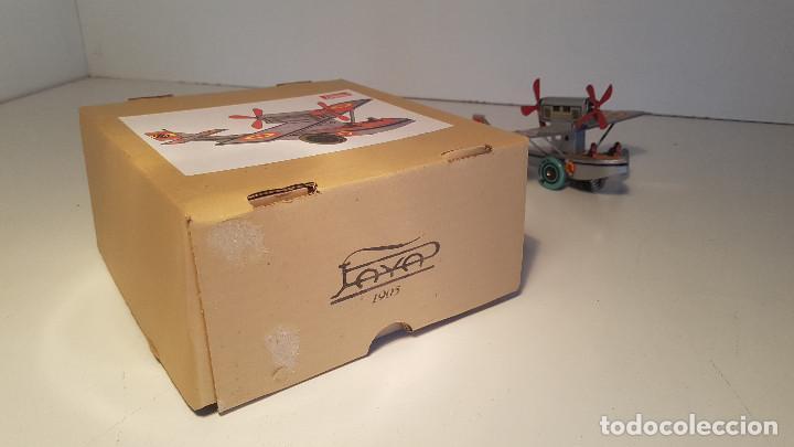 Juguetes antiguos de hojalata: PAYA Hidroavion Plus Ultra 1927 , completo con caja y llave, funcionando ! - Foto 11 - 174171593