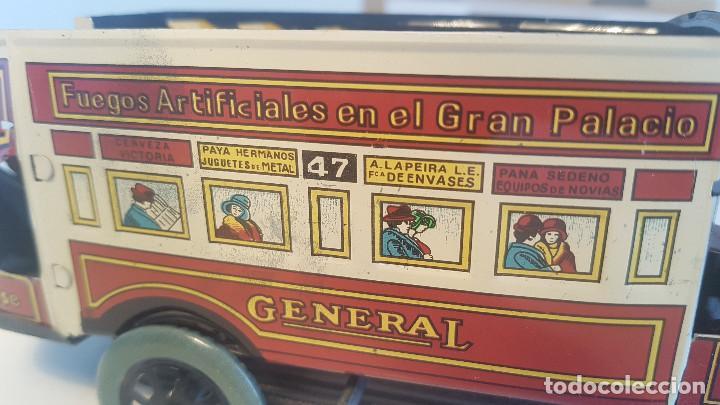 Juguetes antiguos de hojalata: PAYA autobus, completo con caja, llave, etc.. - Funcionando ! - Foto 6 - 173024007