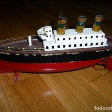 Juguetes antiguos de hojalata - Barco de Hojalata a cuerda Arnold Co. Alemania 1920 juguete - 139730034