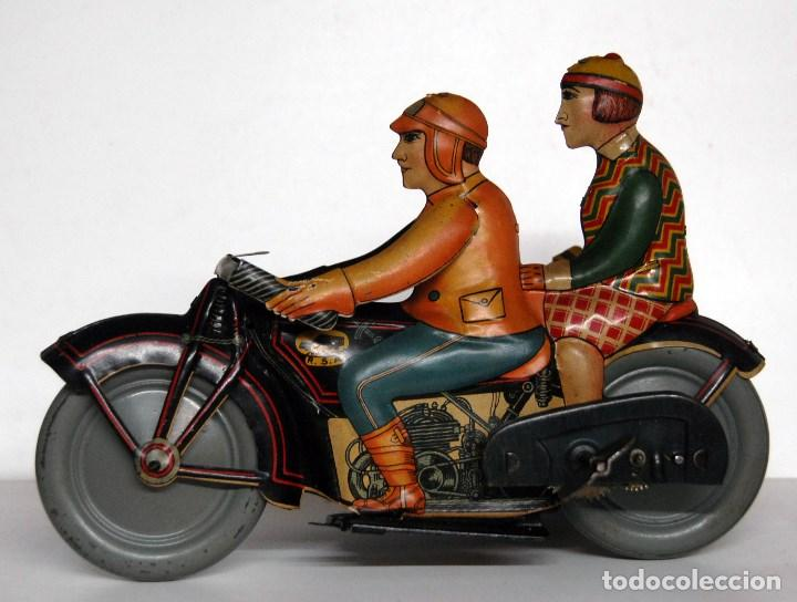 Juguetes antiguos de hojalata: RICO Nº 368 ORIGINAL - MOTOCICLETA CON SIDECAR - Foto 2 - 140400862
