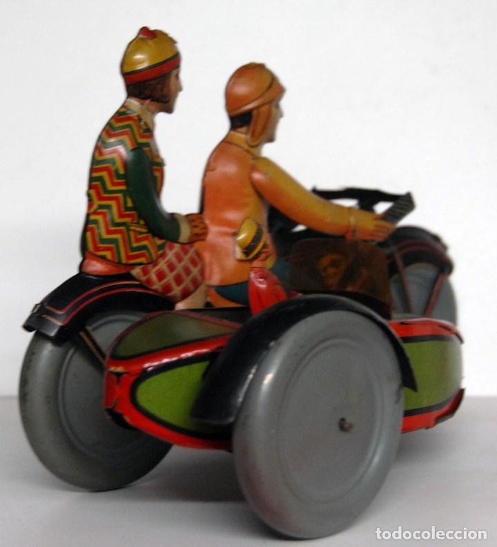 Juguetes antiguos de hojalata: RICO Nº 368 ORIGINAL - MOTOCICLETA CON SIDECAR - Foto 4 - 140400862