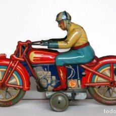 Juguetes antiguos de hojalata: PAYÁ Nº 804 ORIGINAL - MOTOCICLETA DE CARRERAS. Lote 140483722