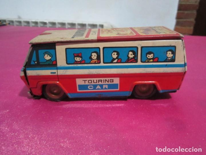 AUTOBUS DE HOJALATA TOURING CAR (Juguetes - Juguetes Antiguos de Hojalata Extranjeros)