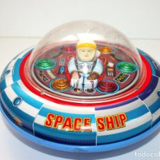 Juguetes antiguos de hojalata: ANTIGUA NAVE ESPACIAL SPACE SHIP X-5 LATA LITOGRAFIADA TIN TOY MADE IN JAPAN ORIGINAL MASUDAYA 1960. Lote 140853658
