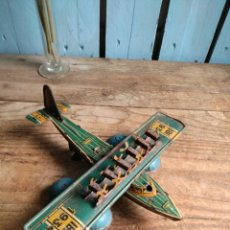 Juguetes antiguos de hojalata - Rarísimo Hidro avión litografiado Rico RSA 1934 - 140900642