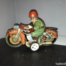 Juguetes antiguos de hojalata: MOTO AÑOS 50 ANHOKA MADE IN JAPAN RARA Y DIFICIL TIPO PAYA RICO JYESA. Lote 140966634