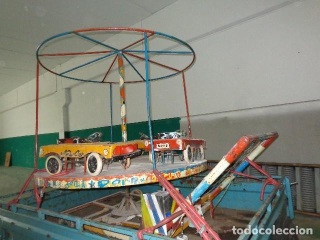 Juguetes antiguos de hojalata: Tio vivo carrusel de los años 40-50 - Foto 2 - 141255398