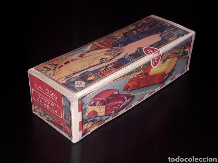 CAJA VACÍA EMPTY BOX CAMIONETA TANQUE GASOLINA REF. 225, RICO IBI SPAIN. ORIGINAL AÑOS 40-50. (Juguetes - Juguetes Antiguos de Hojalata Españoles)