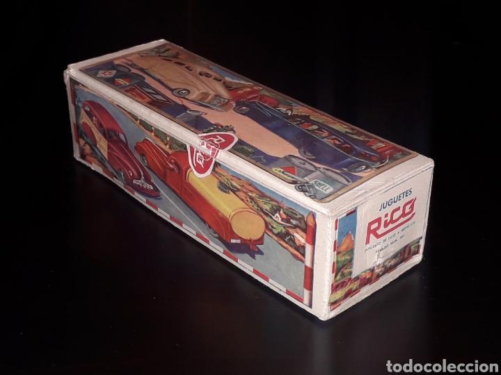 Juguetes antiguos de hojalata: Caja vacía empty box Camioneta tanque gasolina ref. 225, Rico Ibi Spain. Original años 40-50. - Foto 2 - 141471790
