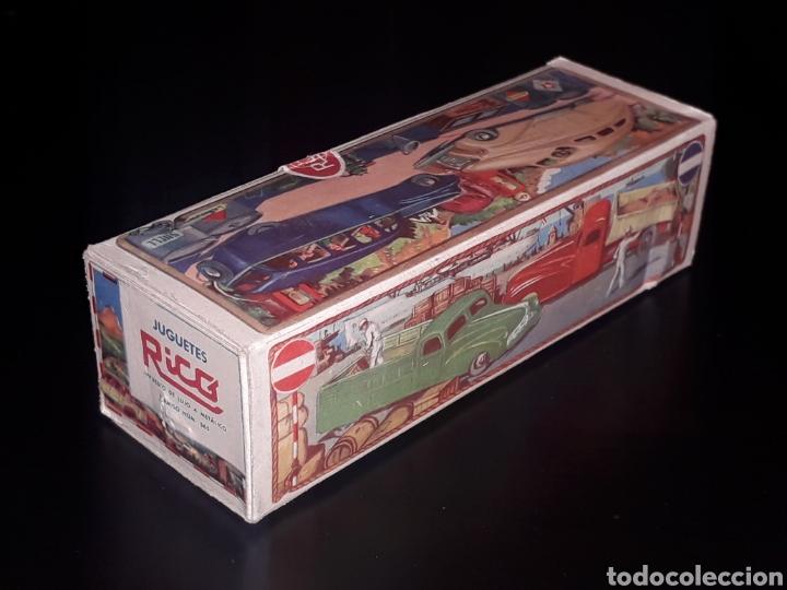 Juguetes antiguos de hojalata: Caja vacía empty box Camioneta tanque gasolina ref. 225, Rico Ibi Spain. Original años 40-50. - Foto 3 - 141471790