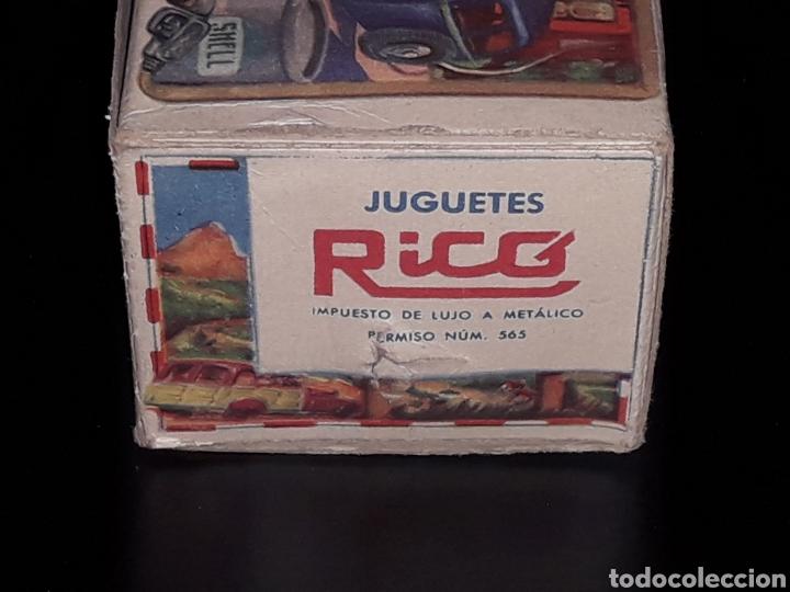 Juguetes antiguos de hojalata: Caja vacía empty box Camioneta tanque gasolina ref. 225, Rico Ibi Spain. Original años 40-50. - Foto 5 - 141471790
