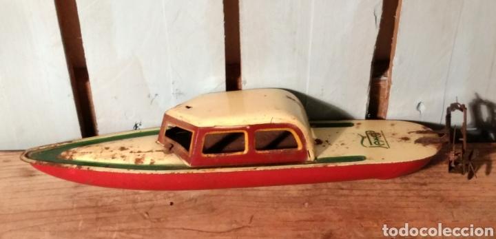 Juguetes antiguos de hojalata: Canoa con Cabina Payá años 30 - Foto 2 - 141606026