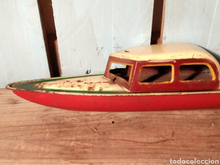 Juguetes antiguos de hojalata: Canoa con Cabina Payá años 30 - Foto 3 - 141606026