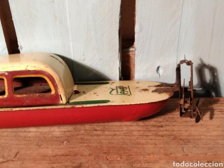 Juguetes antiguos de hojalata: Canoa con Cabina Payá años 30 - Foto 4 - 141606026