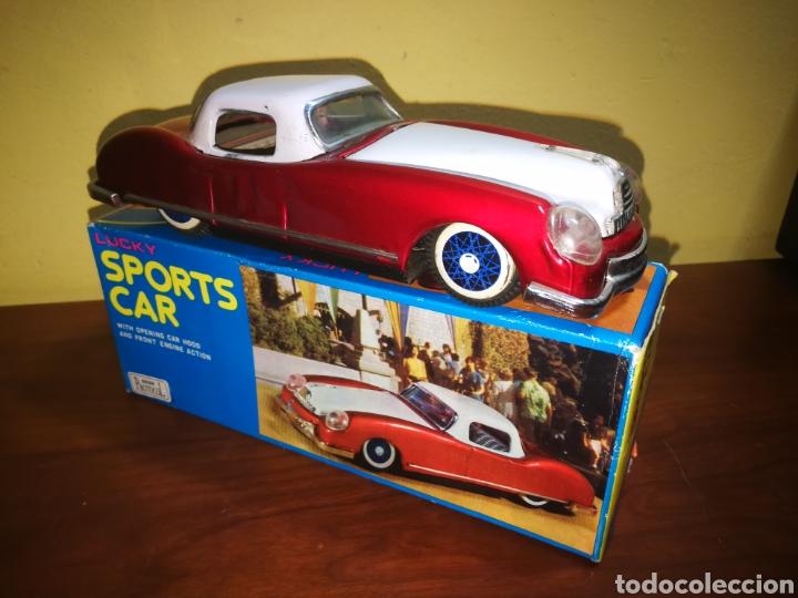 LUCKY SPORTS CAR. TIN TOYS? SEDAN, CADILLAC. AÑOS 70. NUEVO (Juguetes - Juguetes Antiguos de Hojalata Extranjeros)
