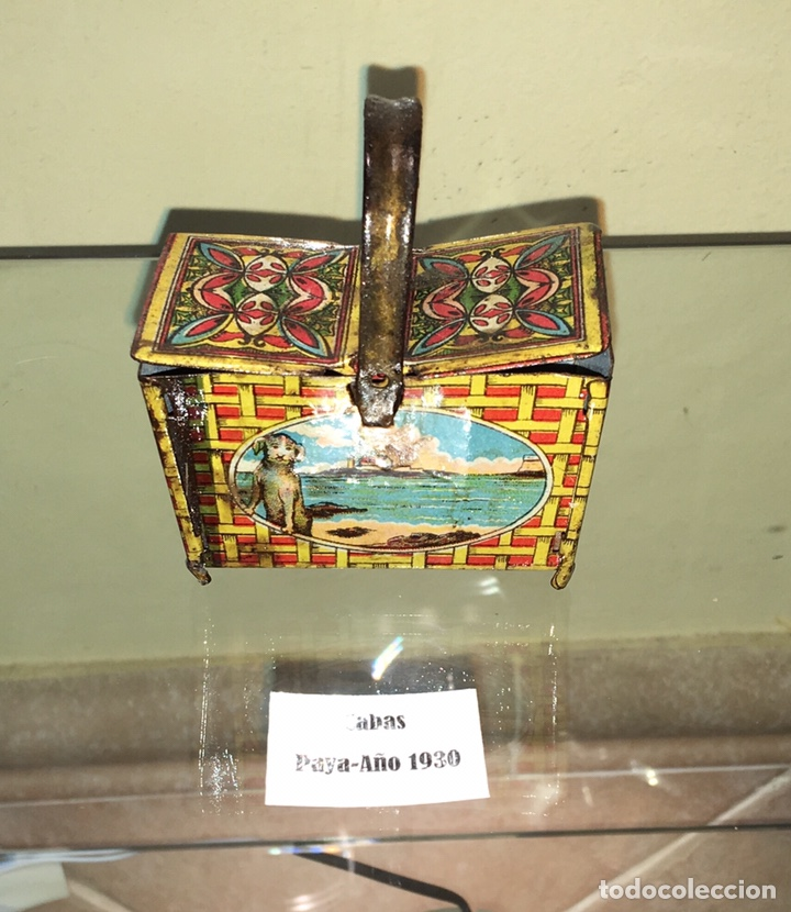 CABAS DE HOJALATA PAYA. NO RICO NO JYESA (Juguetes - Juguetes Antiguos de Hojalata Españoles)