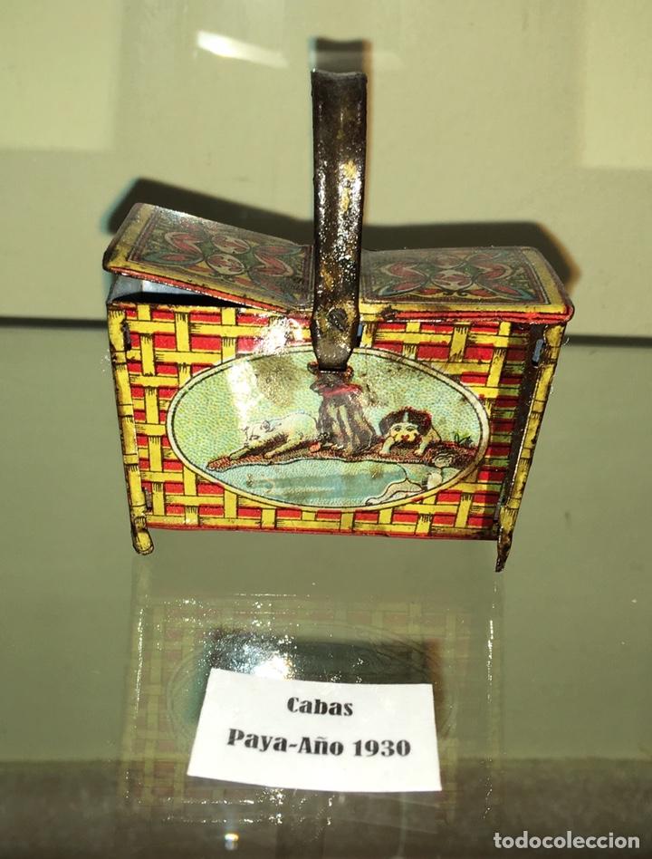 Juguetes antiguos de hojalata: Cabas de hojalata Paya. No Rico no Jyesa - Foto 3 - 143028004