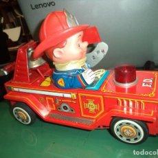Brinquedos antigos de folha-de-Flandres: COCHE DE BOMBEROS EN HOJALATA MADE IN JAPAN. Lote 143705438