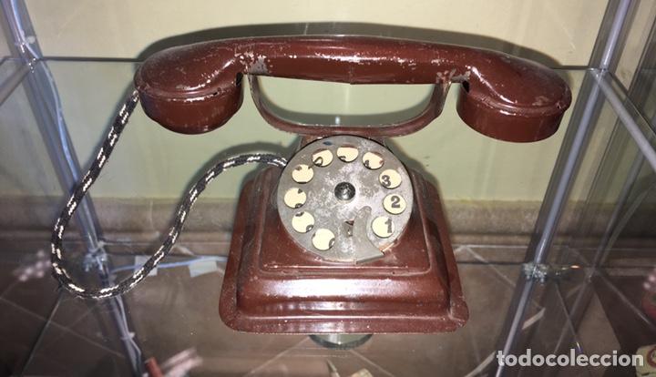 TELEFONO DE HOJALATA RICO. NO PAYA NO JYESA (Juguetes - Juguetes Antiguos de Hojalata Españoles)