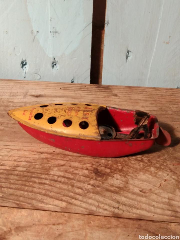 Juguetes antiguos de hojalata: Lancha tuf - tuf Payá años 40 - Foto 5 - 147227794