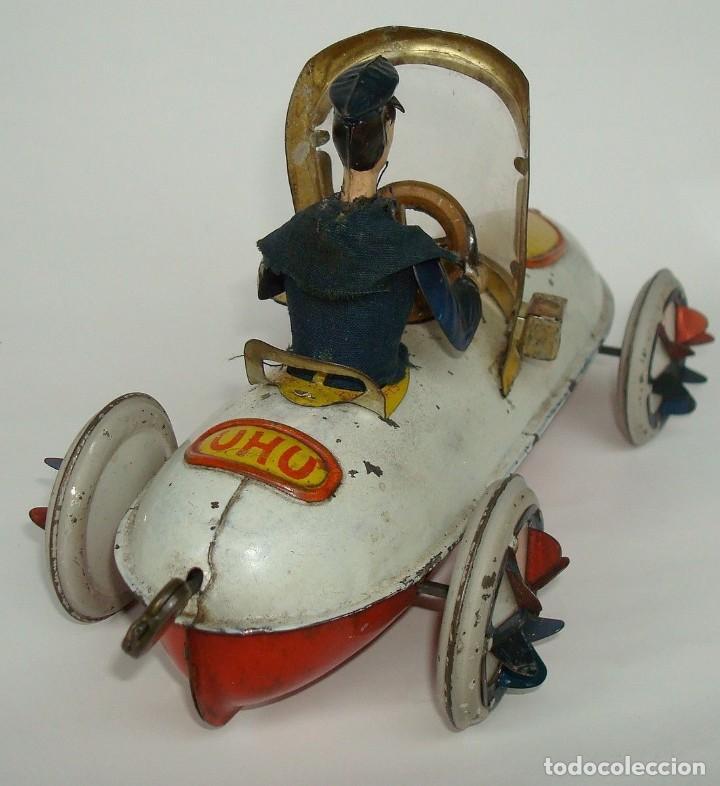 Juguetes antiguos de hojalata: ANTIGUO VELOCIPEDO UHU DE LEHMANN 1905 - Foto 7 - 147474738
