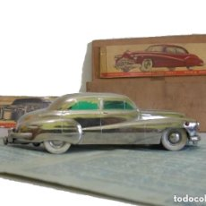 Juguetes antiguos de hojalata: ANTIGUO COCHE DE HOJALATA Y A CUERDA BUICK PRAMETA MADE IN GERMANY // TIN TOY CAR. Lote 178975750