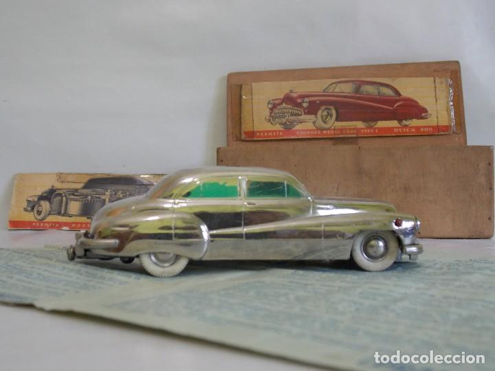 Juguetes antiguos de hojalata: Antiguo coche de hojalata y a cuerda BUICK PRAMETA made in germany // tin toy car - Foto 2 - 178975750