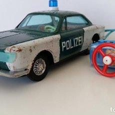 Juguetes antiguos de hojalata: COCHE BMW POLIZEI CON MANDO DE BANDAI - JAPON. Lote 147740554