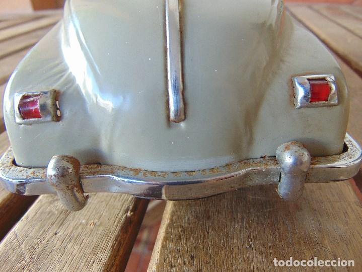 Juguetes antiguos de hojalata: ANTIGUO COCHE DE HOJALATA CHAPA SALVAOBSTACULOS TURISTAS NO SE LE VE MARCA CREO JAPONES - Foto 16 - 147901030