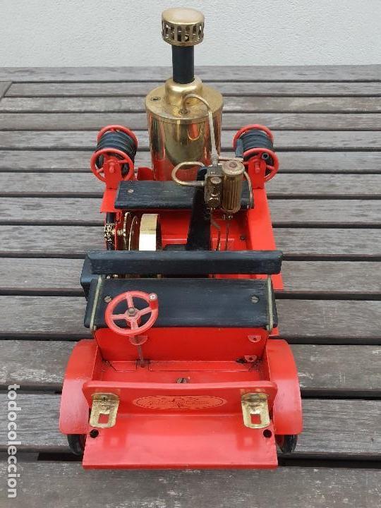 Juguetes antiguos de hojalata: ANTIGUO COCHE DE BOMBEROS A VAPOR (CAMION) DE LA MARCA WILESCO - Foto 10 - 147937166