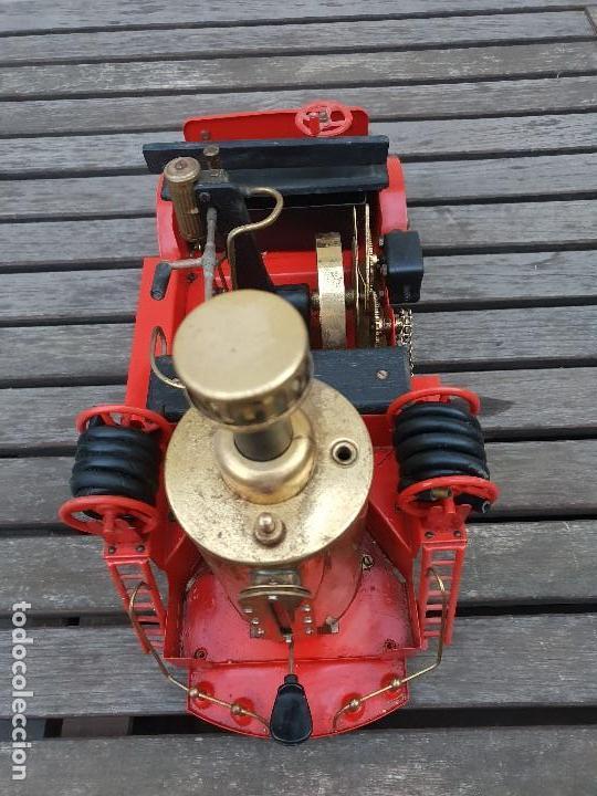 Juguetes antiguos de hojalata: ANTIGUO COCHE DE BOMBEROS A VAPOR (CAMION) DE LA MARCA WILESCO - Foto 14 - 147937166