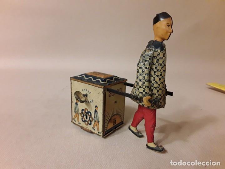 IMPRESIONANTE PORTEADOR NU NU LEHMANN 1925 (Juguetes - Juguetes Antiguos de Hojalata Extranjeros)