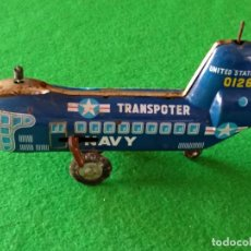 Jouets anciens en fer-blanc: HELICOPTERO HOJALATA MADE IN JAPAN. Lote 150024434