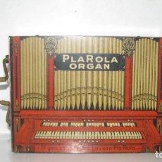 Juguetes antiguos de hojalata: RARA Y ANTIGUA -PLAROLA-(ORGANO) CON 3 ROLLOS,1928,RARÍSIMO OBJETO DE GRAN CURIOSIDAD Y DE ENCONTRAR. Lote 31722512