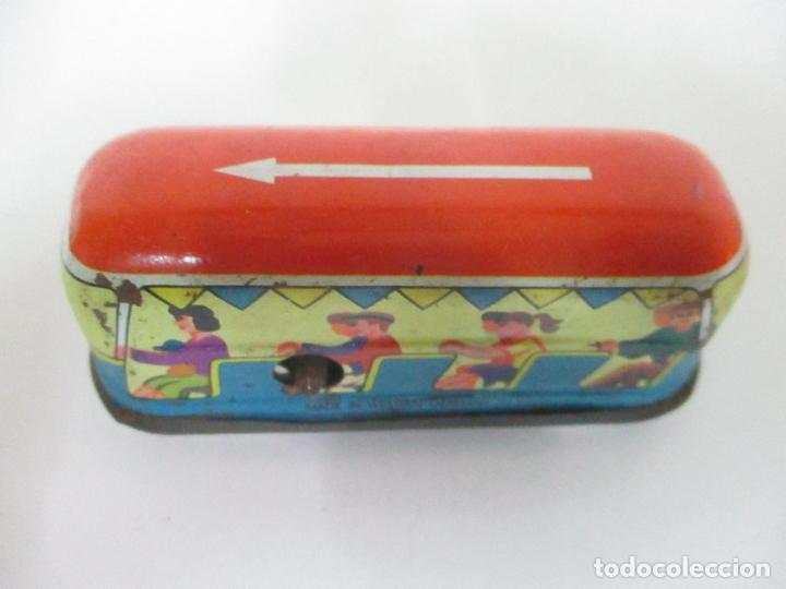 Juguetes antiguos de hojalata: Antiguo Coche de Hojalata a Cuerda - Bus, Coney Island Tecnhnofix - Western in Germany - Foto 2 - 150765958