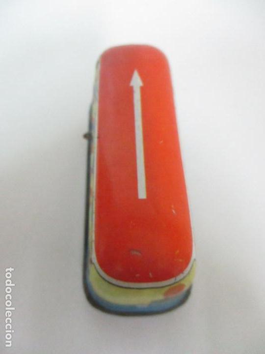 Juguetes antiguos de hojalata: Antiguo Coche de Hojalata a Cuerda - Bus, Coney Island Tecnhnofix - Western in Germany - Foto 4 - 150765958
