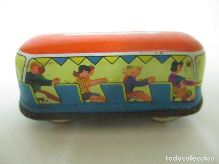 Juguetes antiguos de hojalata: Antiguo Coche de Hojalata a Cuerda - Bus, Coney Island Tecnhnofix - Western in Germany - Foto 5 - 150765958
