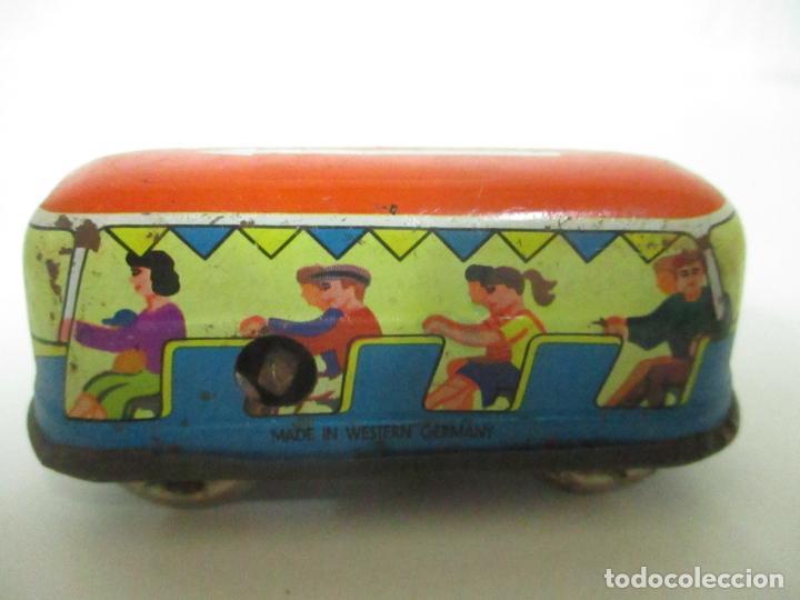 Juguetes antiguos de hojalata: Antiguo Coche de Hojalata a Cuerda - Bus, Coney Island Tecnhnofix - Western in Germany - Foto 8 - 150765958