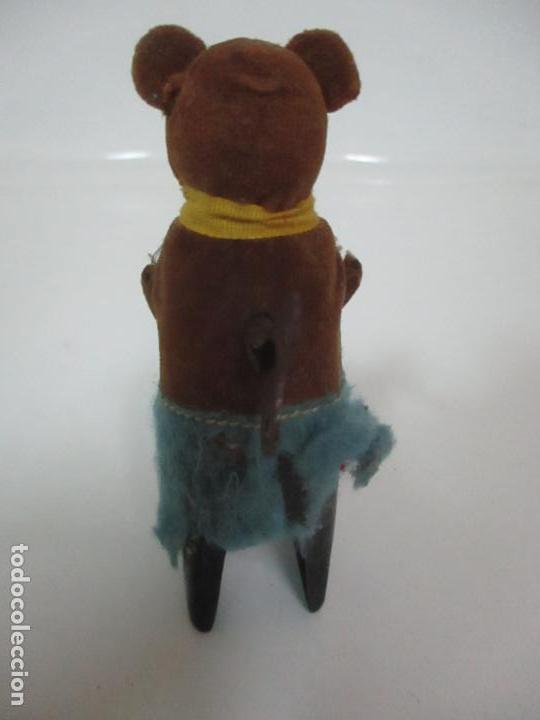 Juguetes antiguos de hojalata: Antiguo Juguete - Oso Bailando con Osito - Hojalata - Muñeco Autómata - Marca Schuco, Foreign - Foto 6 - 150796258