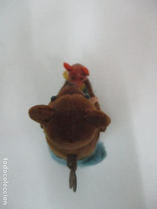 Juguetes antiguos de hojalata: Antiguo Juguete - Oso Bailando con Osito - Hojalata - Muñeco Autómata - Marca Schuco, Foreign - Foto 8 - 150796258