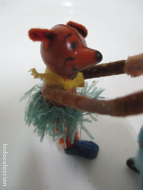 Juguetes antiguos de hojalata: Antiguo Juguete - Oso Bailando con Osito - Hojalata - Muñeco Autómata - Marca Schuco, Foreign - Foto 11 - 150796258