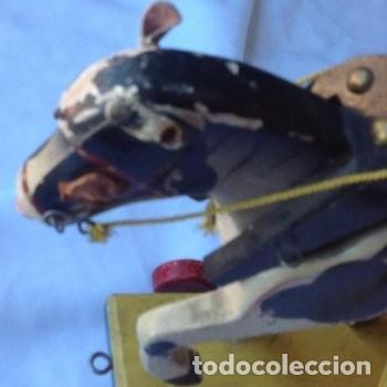 Juguetes antiguos de hojalata: CARRETA DE MADERA CON LONA DE HOJALATA - Foto 5 - 150842414